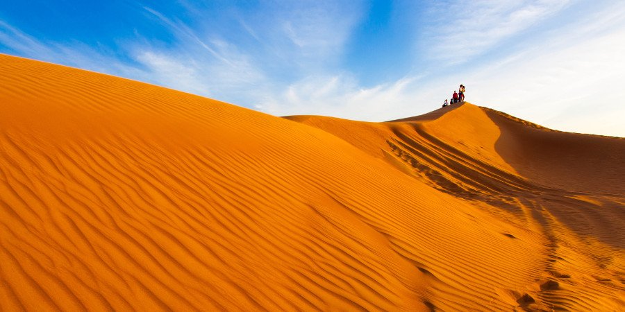 Le infinite soffici dune di Wahiba Sands